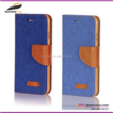 [Somostel] Wholesale fashion cell phone Oxford fabric leather case for iphone,samsung huawei with card slot