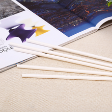plain pure white eco paper straws white paper straws