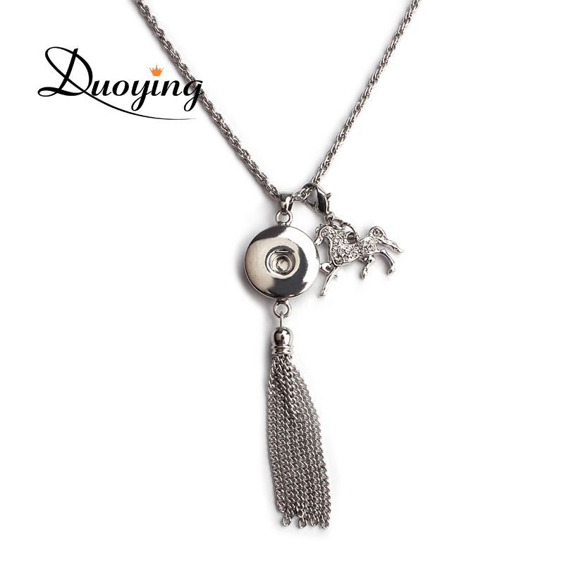 2017 Latest Design Zinc Alloy Ginger Snap Button Fashion Jewelry Necklace