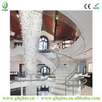 Luxury hotel series side glow or end glow different diameter LED fiber optic lighting