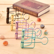 Housing color hollow bookend paper clips Binder clips PDA word dovetail clamp 6 color optional factory manufacturing