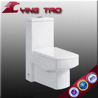 sanitary ceramic ware one piece public siphonic water toilet square dual flush self clean european standard watermark toilet