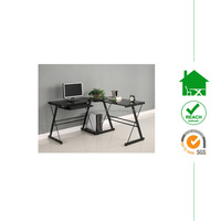 modern design cheap black glass computer desks