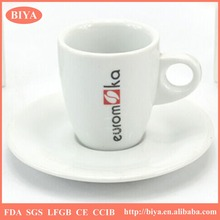 espresso cup set royal style tableware wholesale italy ceramics white fine porcelain coffee cup and saucer and dish, custom logo