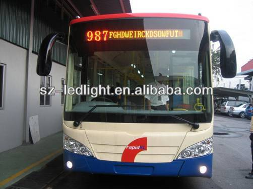 electronic scrolling bus led destination sign
