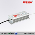 Professional manufacturer single output 60w 12v dc led power supply