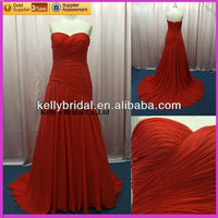 Chinese made Hot sale red mermaid evening dress