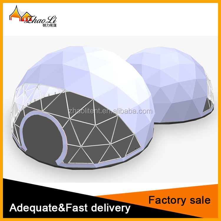 2017 New design outdoor event Geodesic Dome Half Sphere Tent for sale