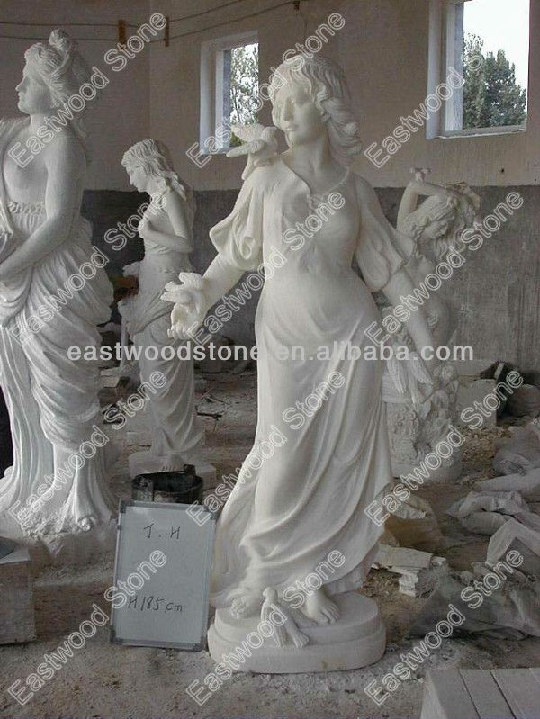 White marble lady sculpture/statue