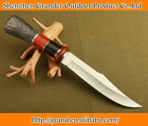 Wood + Steel + Brass handle camping hunting <strong>knives</strong> FD08 multifunction survival tactical <strong>knife</strong> 5218