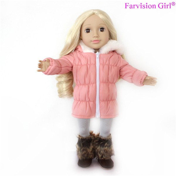18 Inch Fashion Girl Doll Soft Vinyl Body Jointed Arms Legs