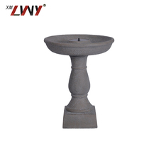 Garden Decorative Birdbath Fountain Resin Bird Bath