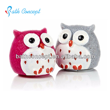 herbal ingredient cute owl shaped lip balm for kids multiple color