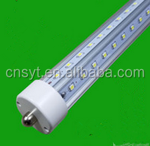 Waterproof V-shape cooler door led tube light, single pin 8ft v shape t8 led tube