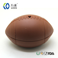 Silicone rugby shape ice ball mold, football silicone ice ball tray maker & beach rugby silicone ice cube maker