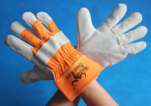 1200 cow hide leather safety gloves/ safety work gloves/ leather safety gloves