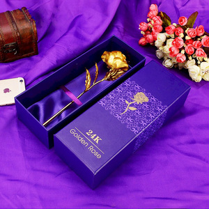 2017 Hot Sale Fashion 24K Gold Foil Rose Best Valentine's Day Gifts Handcrafted Forever Rose With Gift Box and Gift Card