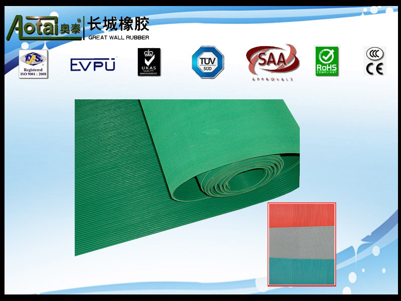 composited fluted non-slip rubber flooring mat/antislip rubber flooring mat