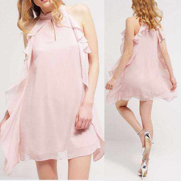 Vestidos sexy cocktail dresses mini chiffon casuales elegant dress for women