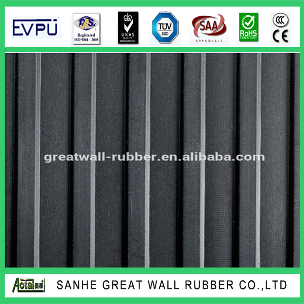Through ISO 9001 CERTIFICATION best quality Ribbed Rubber Sheet SBR material 6-12mm thickness