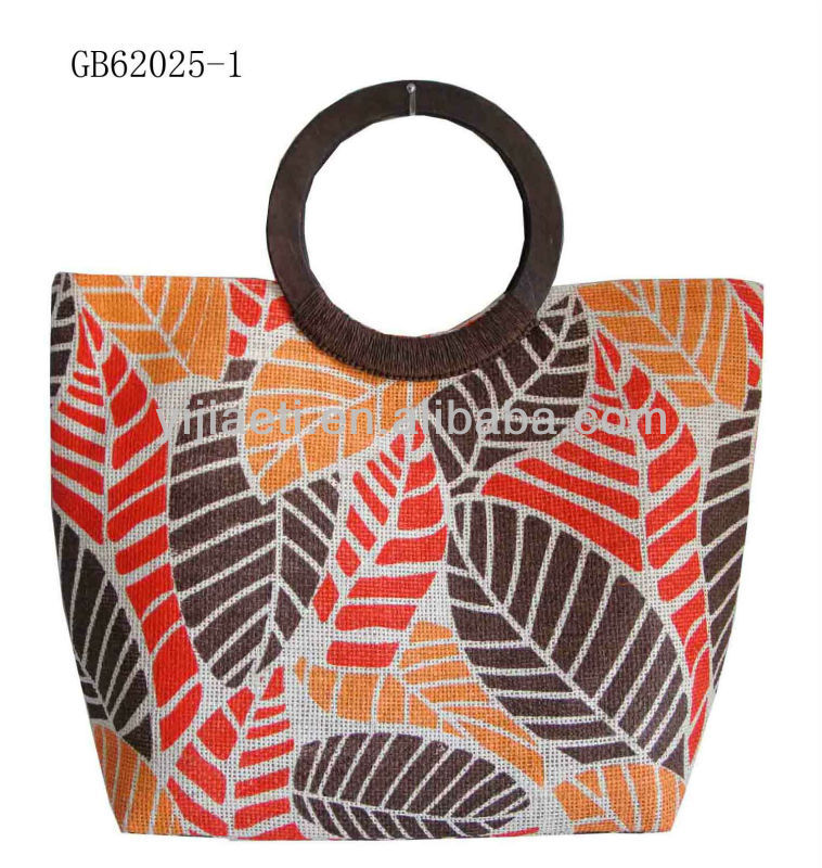 ladies shopping trolley bag with left pattern