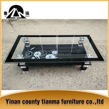 glass top centre table design
