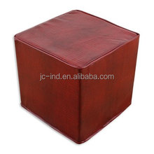 Moroccan Leather Poufs Home Stool & Ottoman