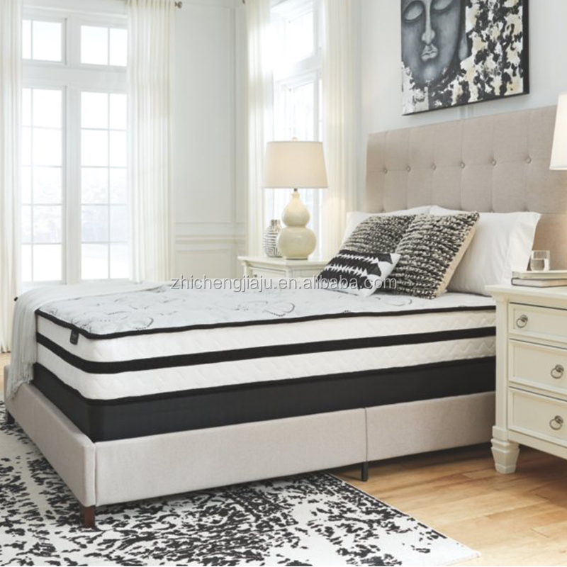 Customized 34cm thick Euro top Mattress 5 zone inner pocket spring and foam hybrid bed mattress base - Jozy Mattress | Jozy.net