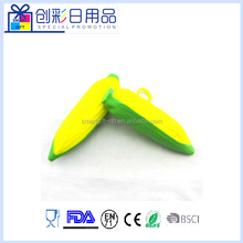 corn shape squishy pu foam stress toy with keychain