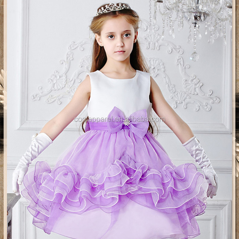 Customized fashion new girl dresses design children clothes midi formal 2 year old girl dress