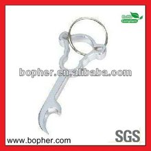mini aluminum guitar shape keychain with bottle opener