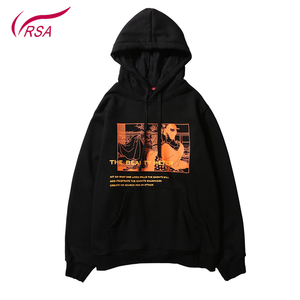 Custom Streetwear Twin Sets Half Cotton Printed Hoodies Mens Pullover Bulk Oversized Hoodie