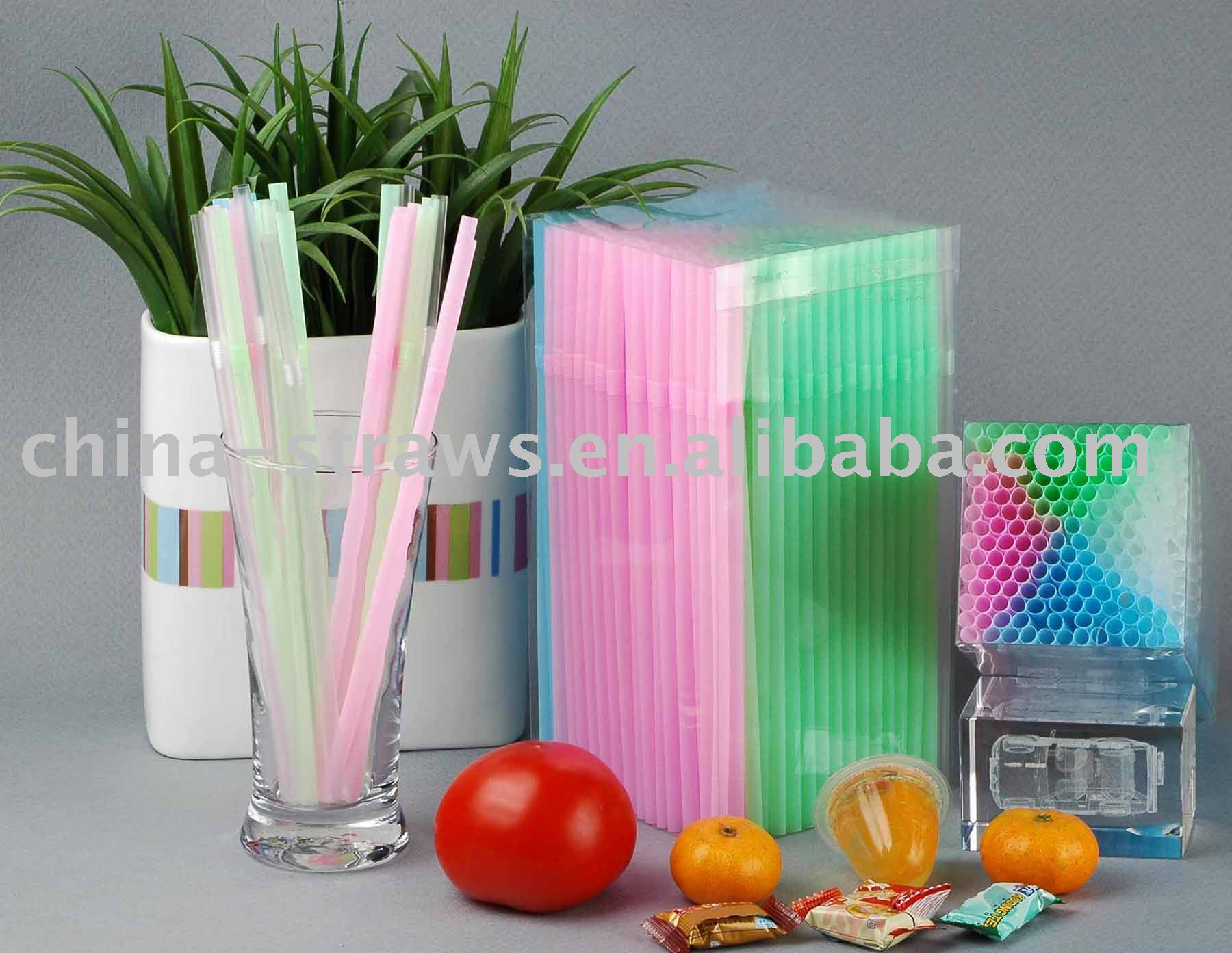 flexible drinking straw,pastel color