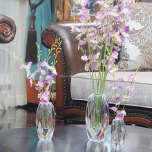 Factory Sale high quality cheap wedding or home decoration crystal glass beads vase