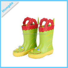 Fashion animal shape rubber rain boots with handles