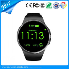 smart watch KW18 android dual sim 1.3 inch round screen IPS LCD Smart watch