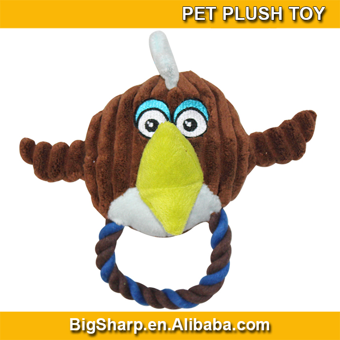 Wholesale High Quality Cute Bird Shaped Plush Dog Toys With Cotton RopeDPT-067