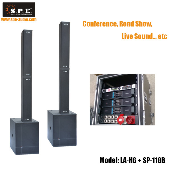 2014 New Arrive !! LA-H6+SP-118B column speaker PA system indoor sound system