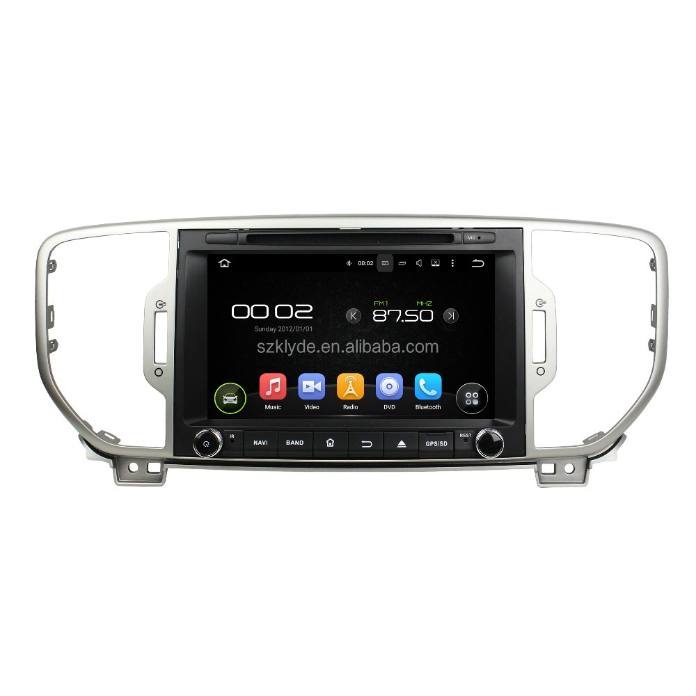 factory OME wholesale RK3188 android5.1 quad core car dvd gps auto for sportage 2016