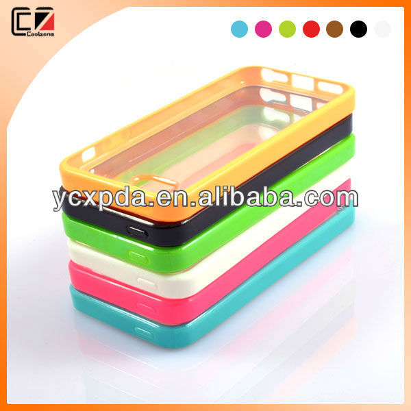 beatiful hybrid bumper color case for iphone5/5s