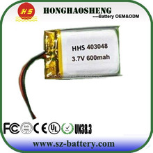 hot sale best price rechargeable yuntong 3.7v 600mah