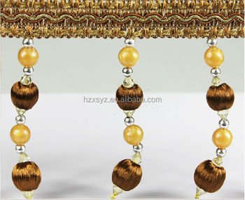 Good quality tassel bead fringes used for curtain