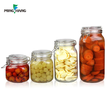 500ml 750ml 1000ml 1500ml glass pickle jar 2l food packaging containers
