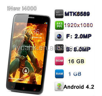Android 4.2 quad core mtk6589 inew i4000 mobile phone.