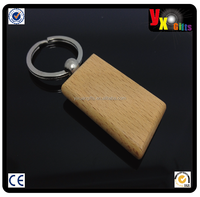 Wholesale Round Blank Wooden Key Chain/Keychain Promotion Carving Circle Key ID Engrave GiftWooden Keychain