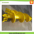 V20 Teeth Double Start Single End Clay Drilling Auger
