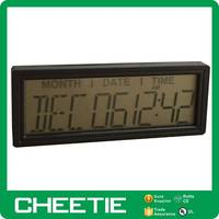 Promotional Projection Battery Operated Electronic Wall Calendar Day Date Display