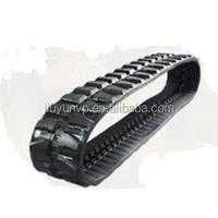 Wholesale products split type small robot/snowblower rubber tracks