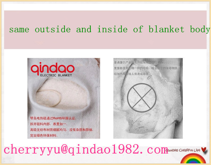 CE/GS/CB/BSCI Approval Polyester 220V-240V Electric Thermal Blanket