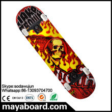 Concave Northeast Maple With Dyeing Custom Complete Skateboard